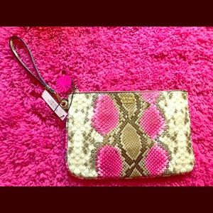 Pink Python Night Out Wristlet